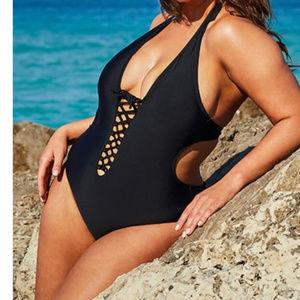 Ashley Graham Sexy VIP cutout Swimsuit 18 3o3!
